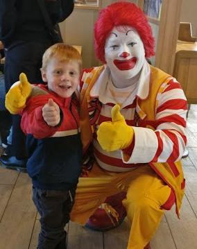 Willum og Ronald McDonald